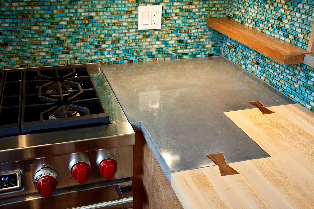ECC Warm Grey Concrete Countertop with Inlaid Bowtie Seam Detail.jpg