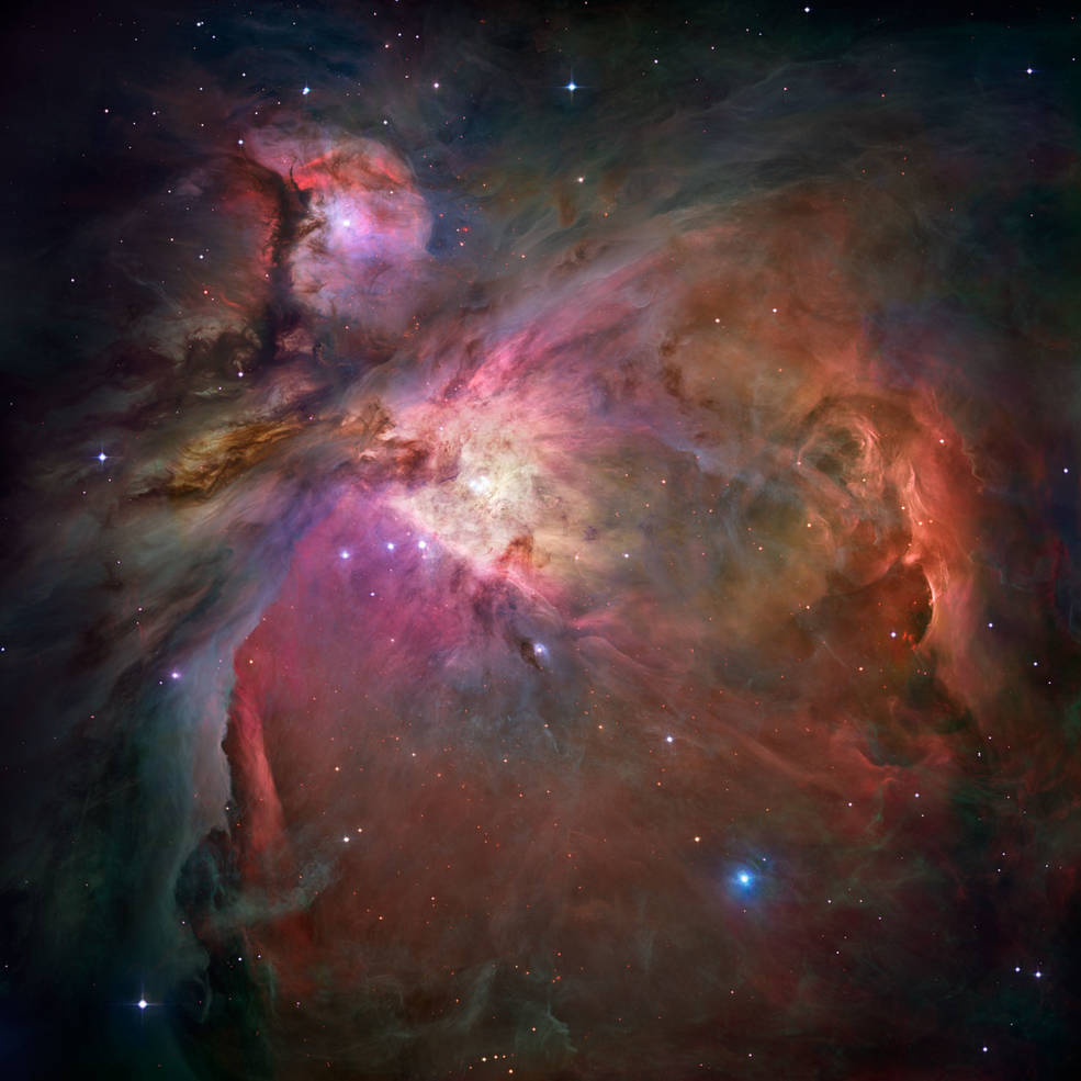 Nébuleuse d'Orion (Messier 45) source: Nasa