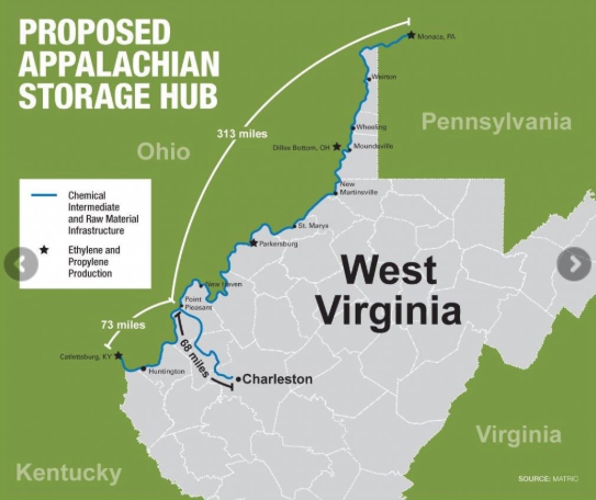 Ohio Valley Environmental Coalition https://ohvec.org/appalachian-storage-hub-petrochemical-complex/