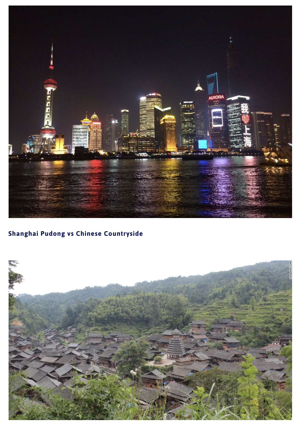 Shanghai Pudong vs Chinese Countryside