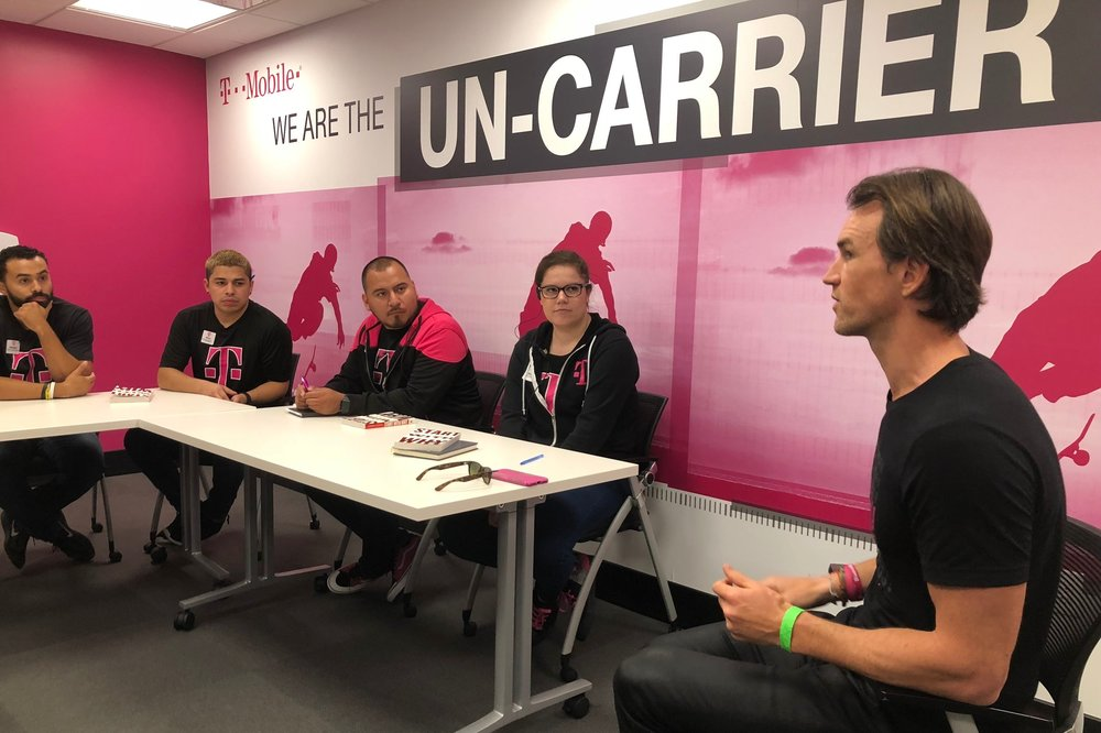 From our first visit together in Santa Monica - hanging out with the T-Mobile Book Club.