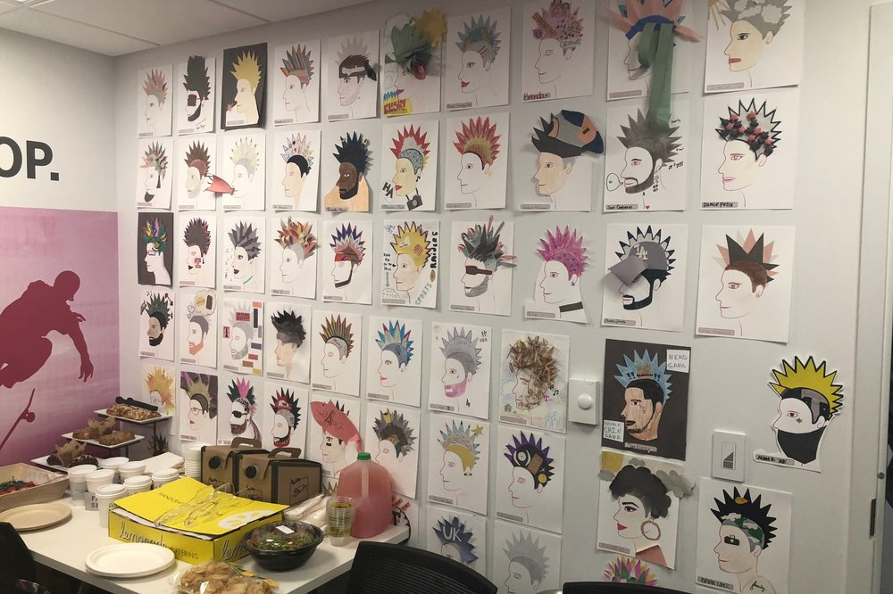 The Wall of Individuality from the employees in that Santa Monica Flagship Store.