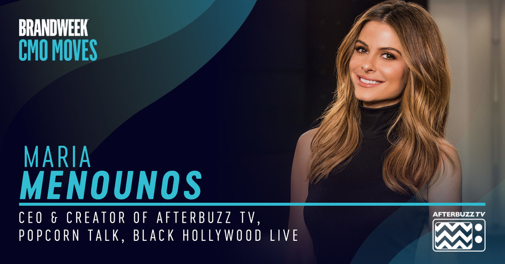 Maria Menounos, CEO AfterBuzz TV