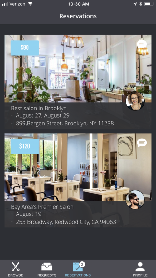 L'Oreal Women in Digital Next Generation Award winner, ShearShare app connects salon owners to licensed stylists to fill unused space on demand.