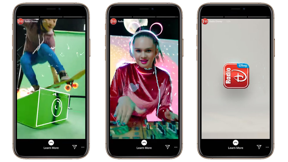 Radio Disney is using Instagram Stories to share branded content.