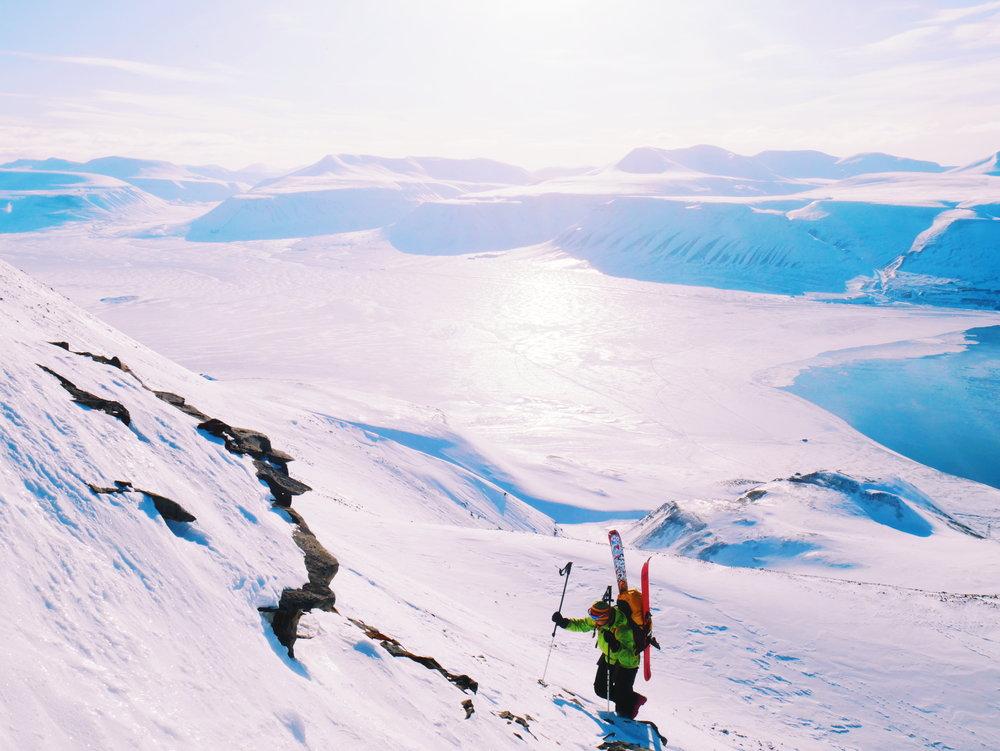 Mathea in Hiorthtinden, Svalbard, Norway