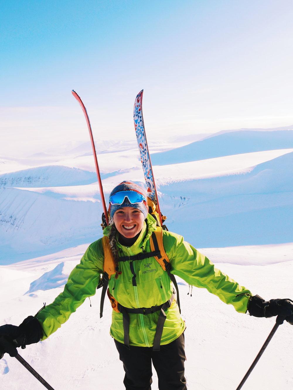 Mathea at the Nordenskiöld mountain, Svalbard