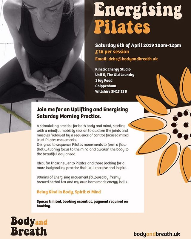 WORKSHOP ALERT!!! Workshop number 2 is now available to book, this one is all about using Pilates to create energy within the body! Very much looking forward to flowing through some core moves and inviting in the weekend! Let me know if you would like to book a space 🧡🧘🏻‍♂️🧘‍♀️