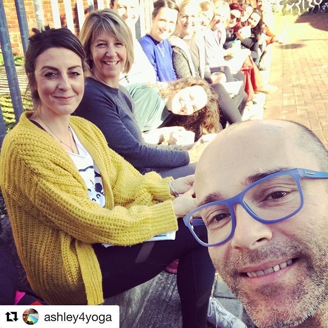 Another brilliant weekend learning and sharing our passion for all things Yoga... thank you Ashley and Friends ❤️🧡 #Repost @ashley4yoga with @get_repost ・・・ Getting to hang out with this lot on a sunny morning in Bristol. A welcome break from hard work in the studio. Honest.