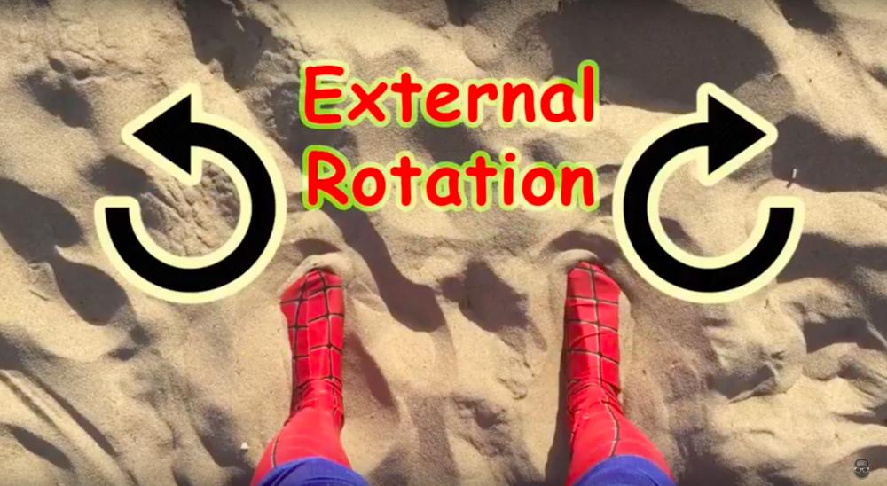 Bodyweight squat torque external rotation