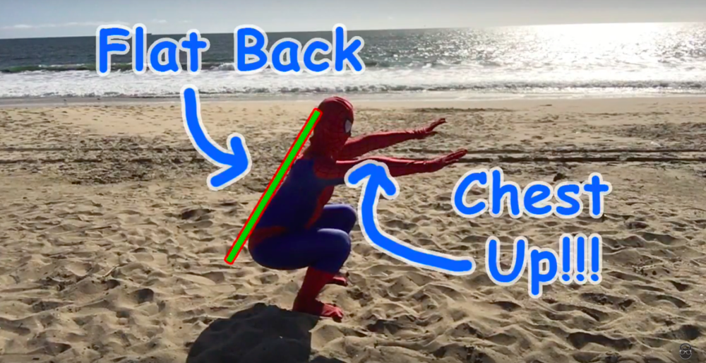 How to keep your back flat during an air squat