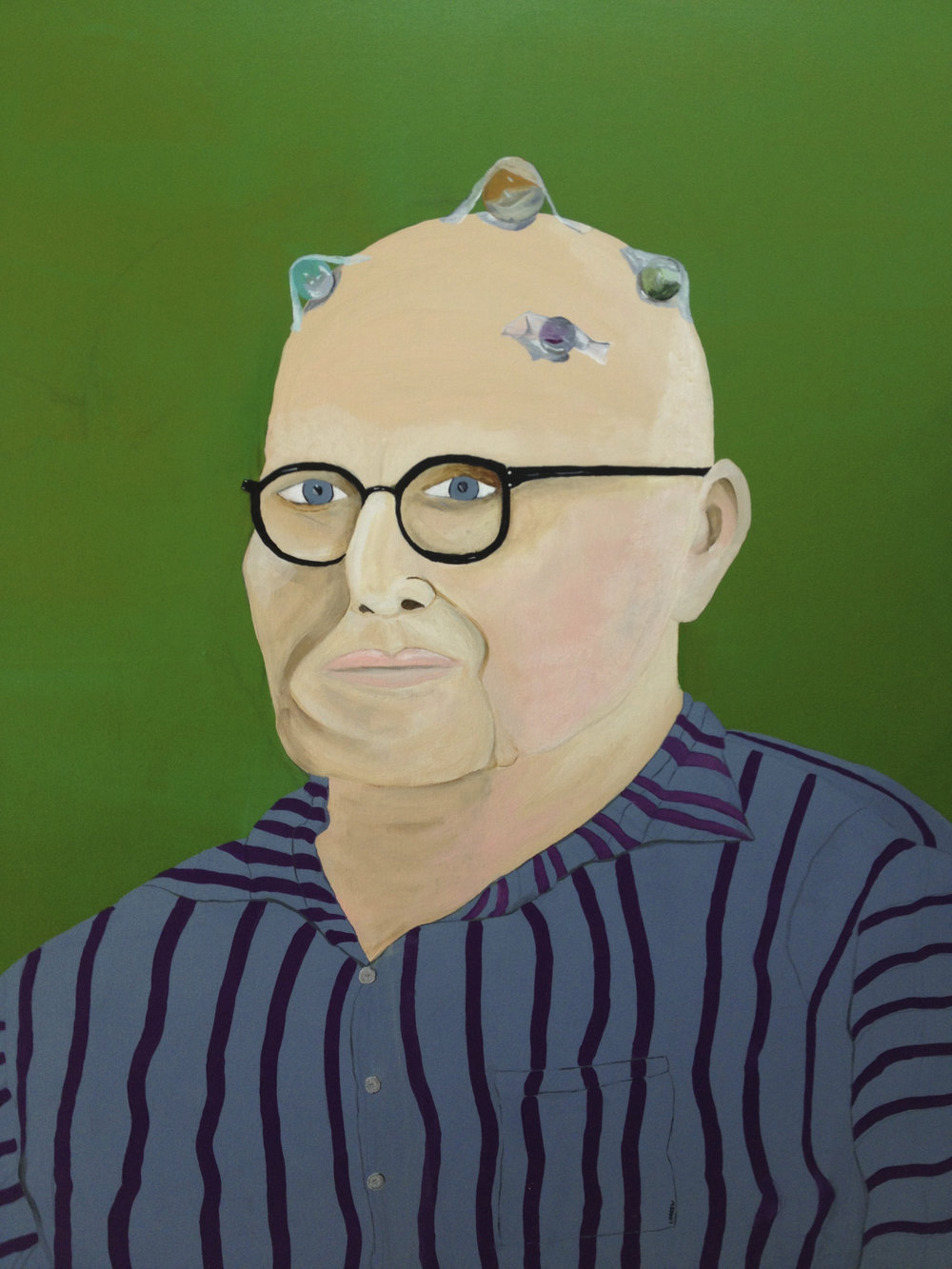 """Grandpa Lost His Marbles  -  acrylic on Canvas 48"""" x 48"""""""