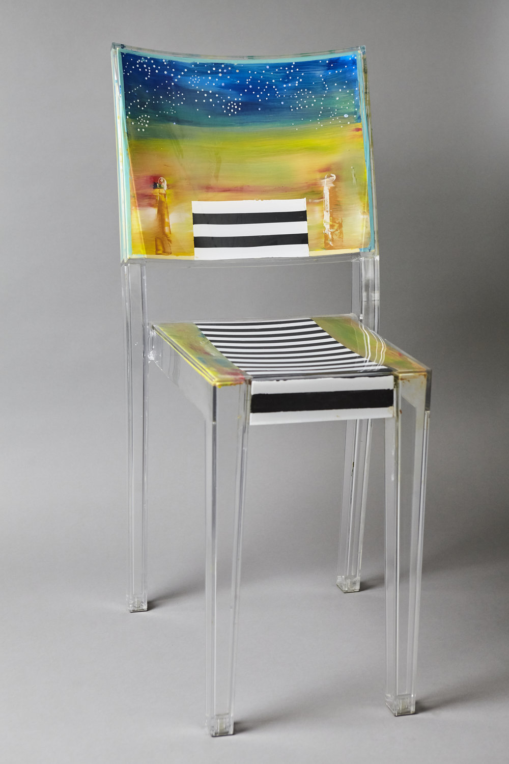 Stars and Stripes 3-   acrylic chair