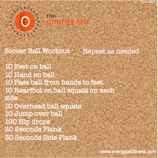 Soccer Ball Workout
