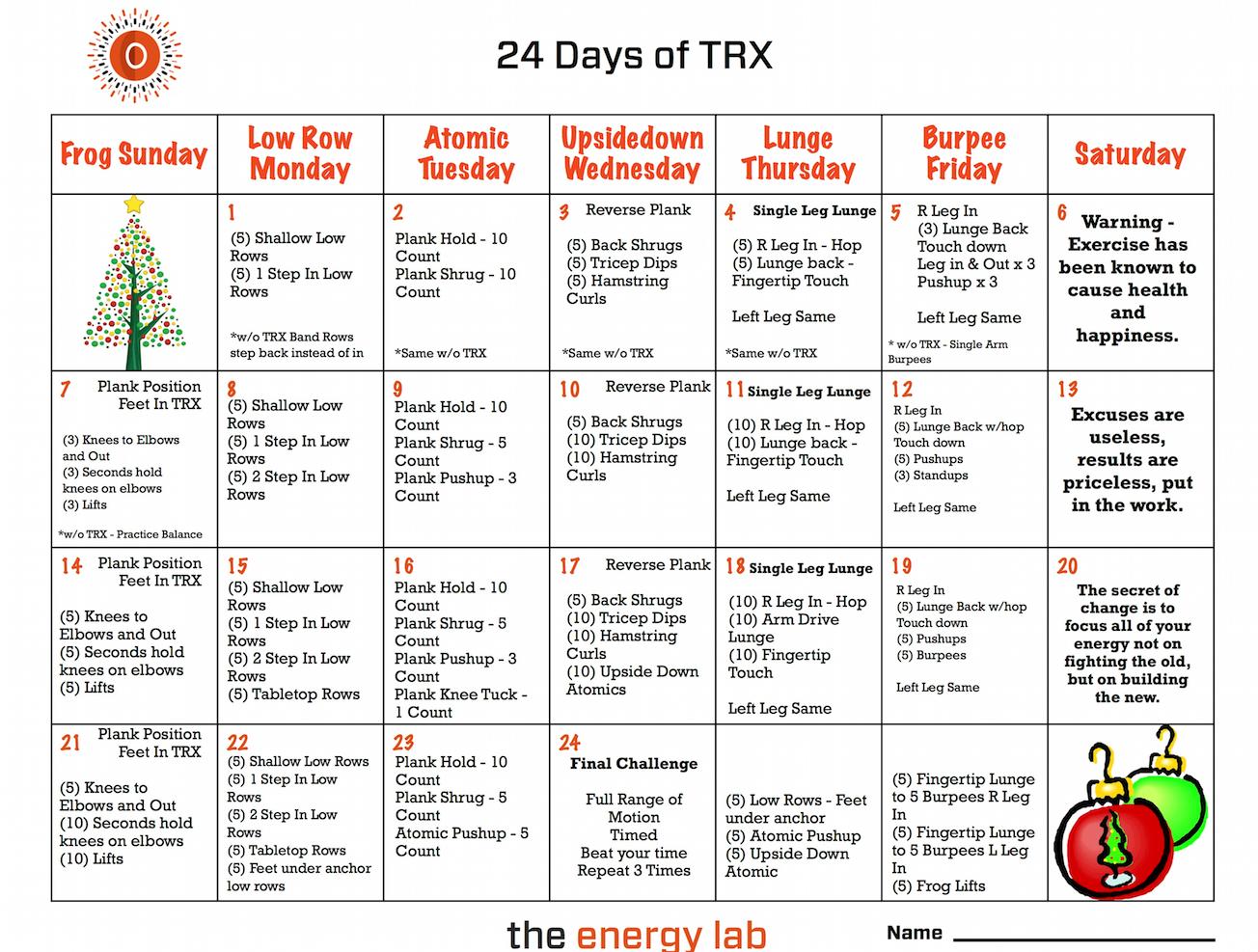 24 days TRX