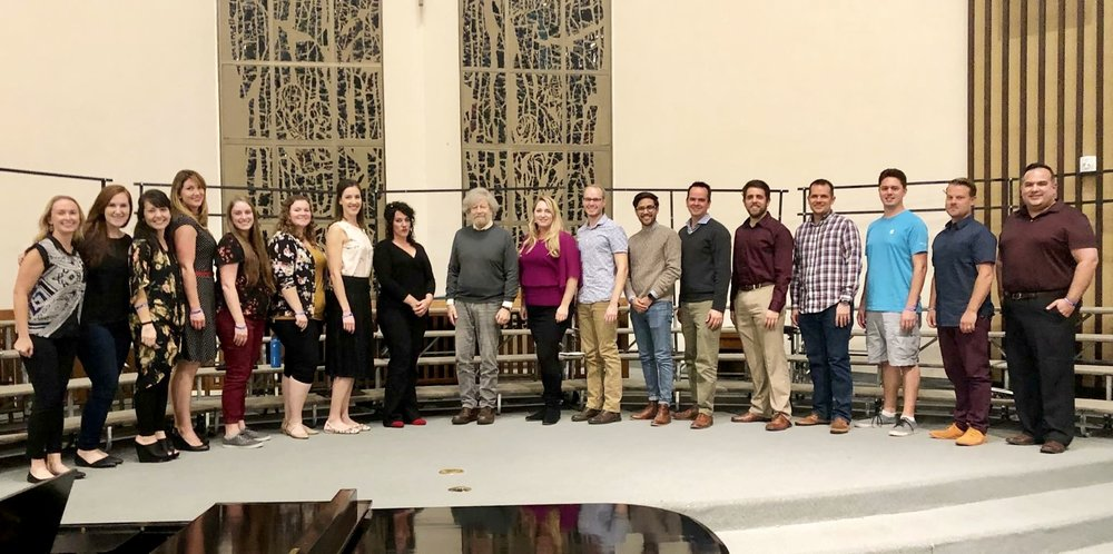 Solis Camerata, directed by Kira Rugen, with Morten Lauridsen, center
