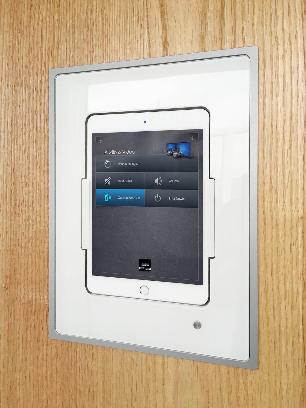The iPad runs Xprt's proprietary control app, Kutano.