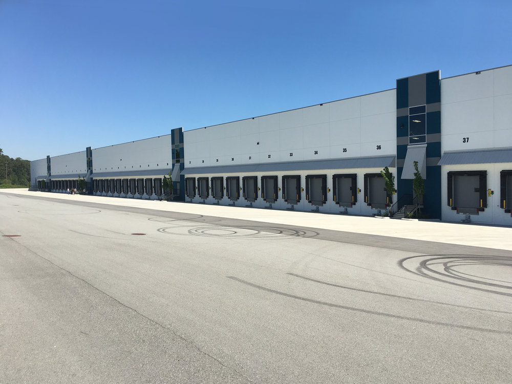 50 truck bays at the back of the warehouse.