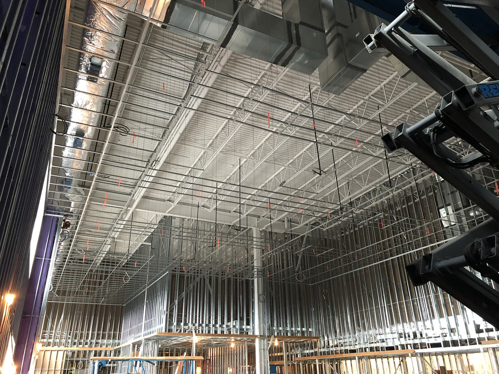 The extent and scale of steel framing in the office areas of the facility was impressive.