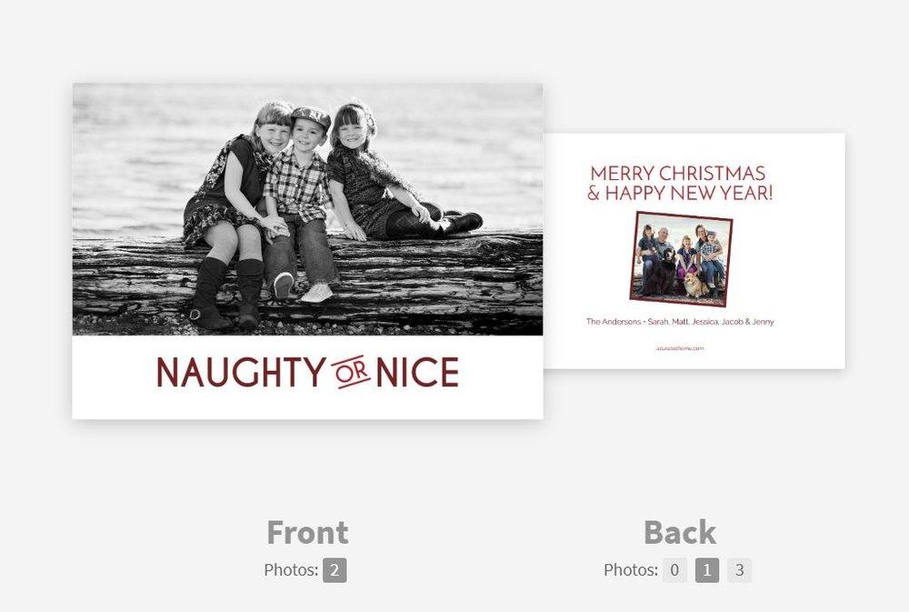CARD 3: NAUGHTY OR NICE -