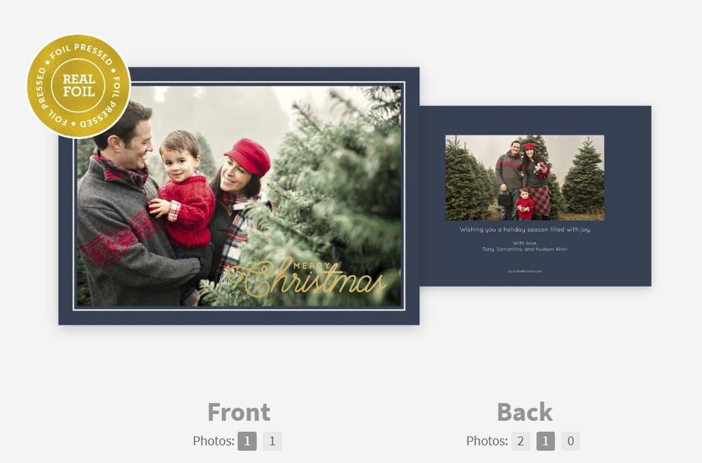 CARD 4: golden christmas -