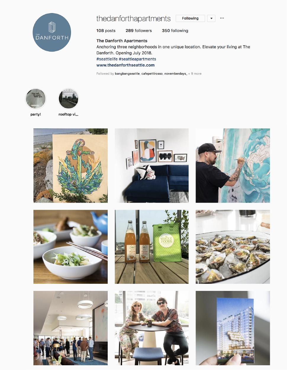 The Danforth Seattle Instagram