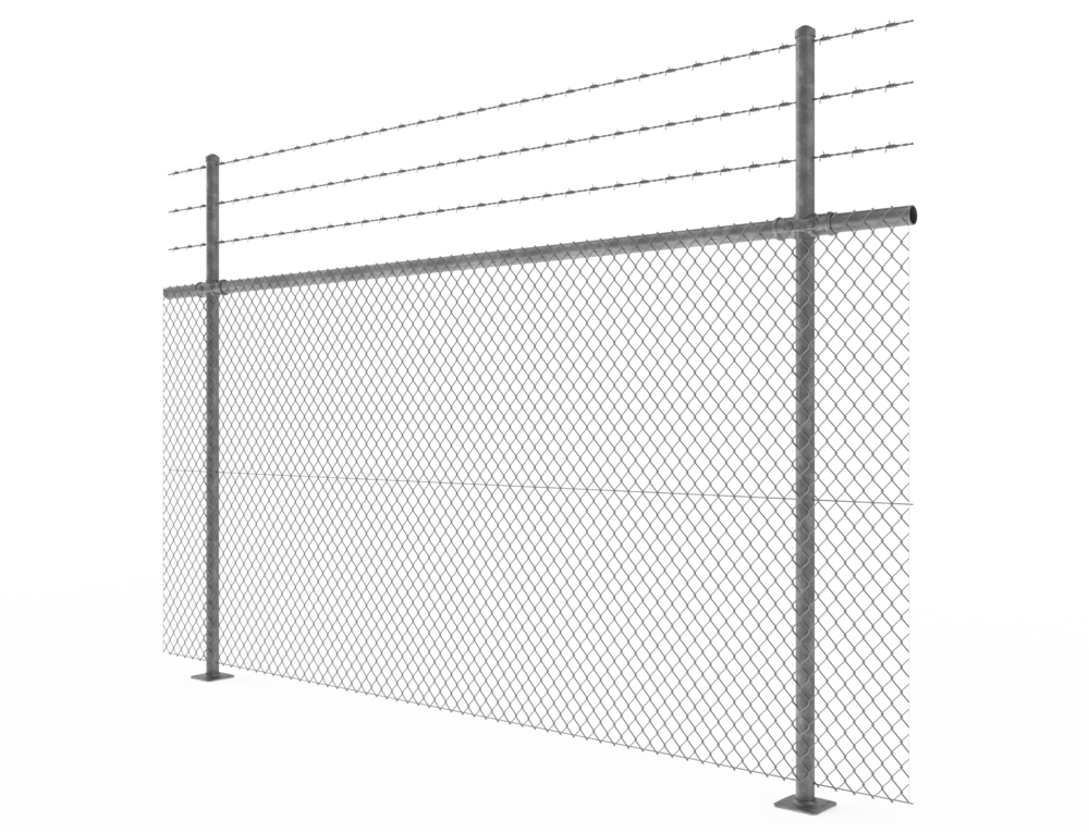 Pipe + Mesh Chainlink