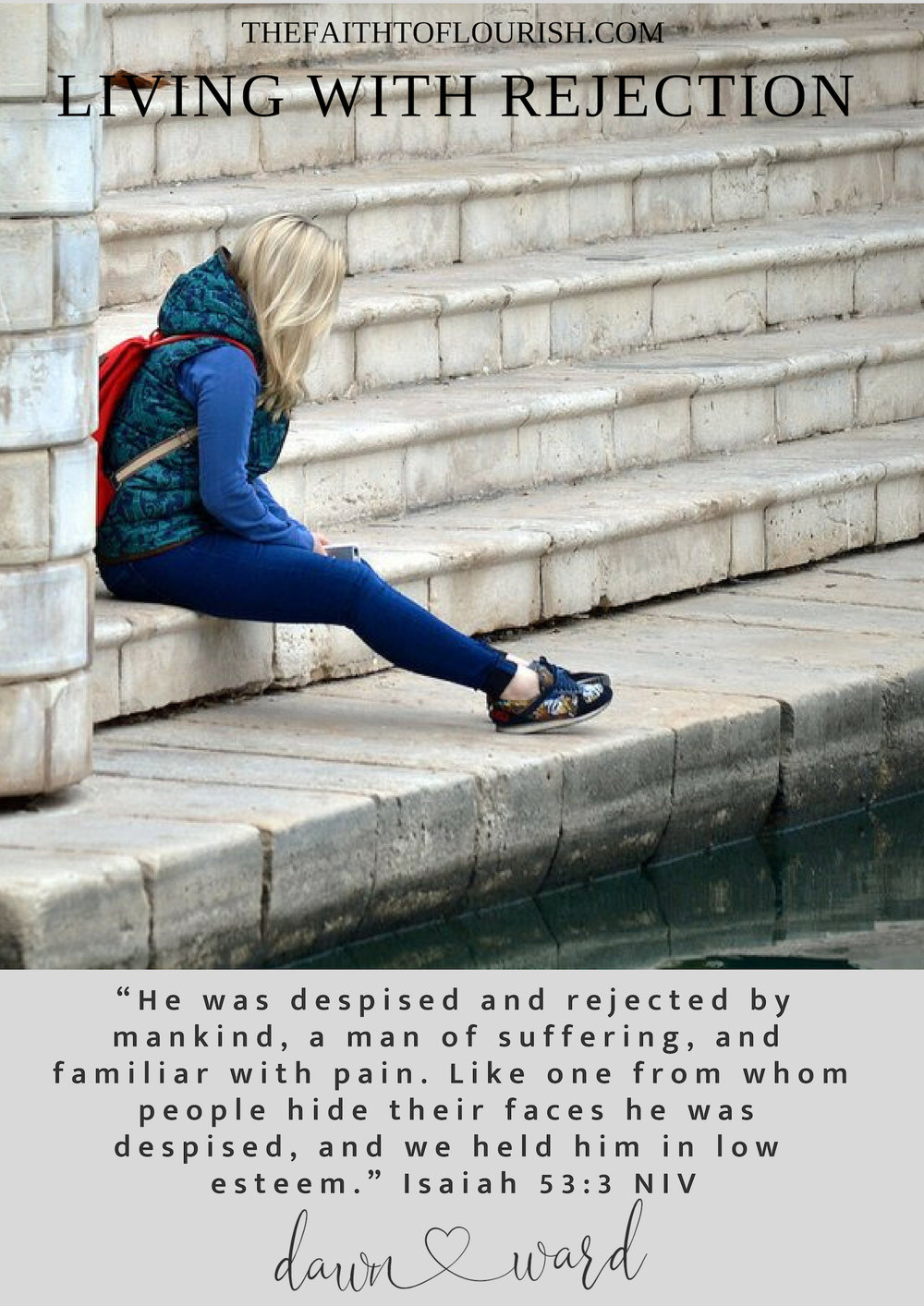 Living with Rejection is very painful, especially if it is from your children, spouses, or loved ones who might be rebelling, living destructive lifestyles, struggling with additiction or mental illness. it is painful to try and rebuild a relationship with someone who has rejected you and your values, even your God.