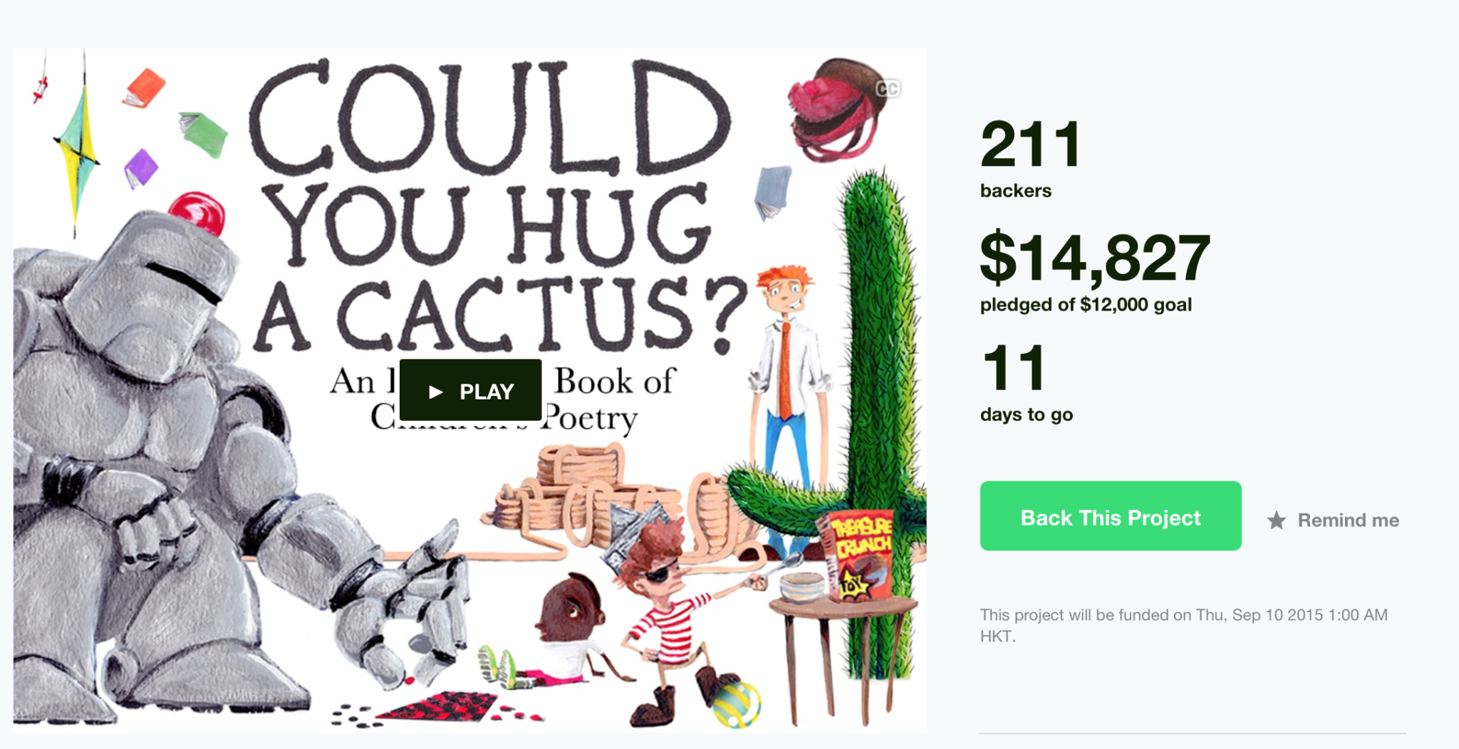 Could You Hug a Cactus Kickstarter