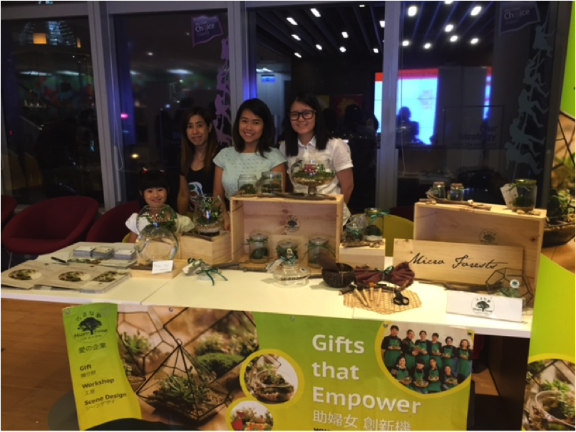 The MicroForest Team showcasing its wares.