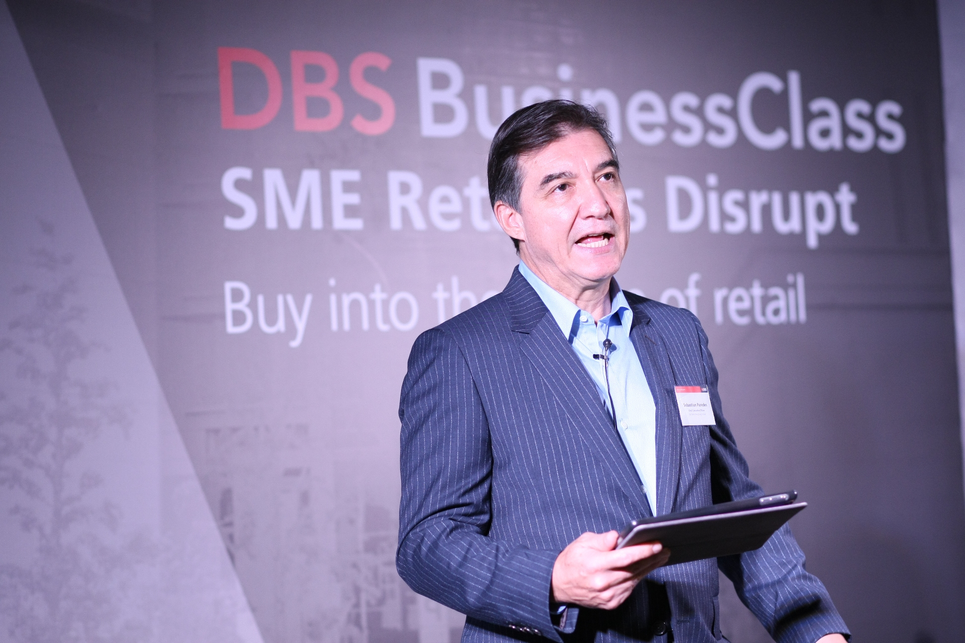 """Speaking at the DBS BusinessClass launch event, Sebastian Paredes, Chief Executive Officer of DBS Bank (Hong Kong) Limited, said, """"At the heart of the DBS BusinessClass programme is our commitment to shape the future of finance by leveraging our pioneering digital innovations and comprehensive understanding of local SME needs. As a leader in SME banking, DBS Hong Kong can provide SMEs with the Asian network and digital edge to capitalise on business opportunities."""""""