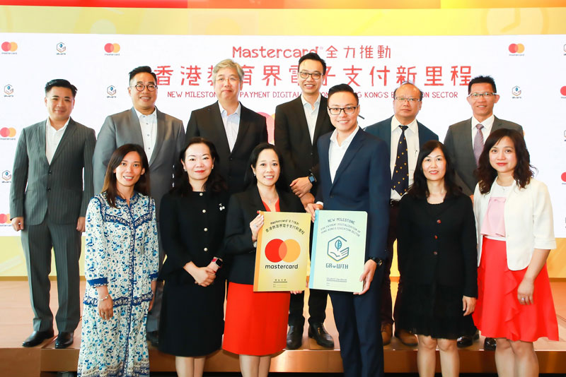 GRWTH has recently launched the service to 10 schools in Hong Kong as part of a pilot program and plans to gradually expand the service to all kindergartens, primary and secondary schools in Hong Kong. Pictured: Helena Chen (third left, front row), managing director, Hong Kong and Macau, Mastercard, Adam Chan (third right, front row), co-founder and CEO, GRWTH, and principals of the 10 pilot schools.