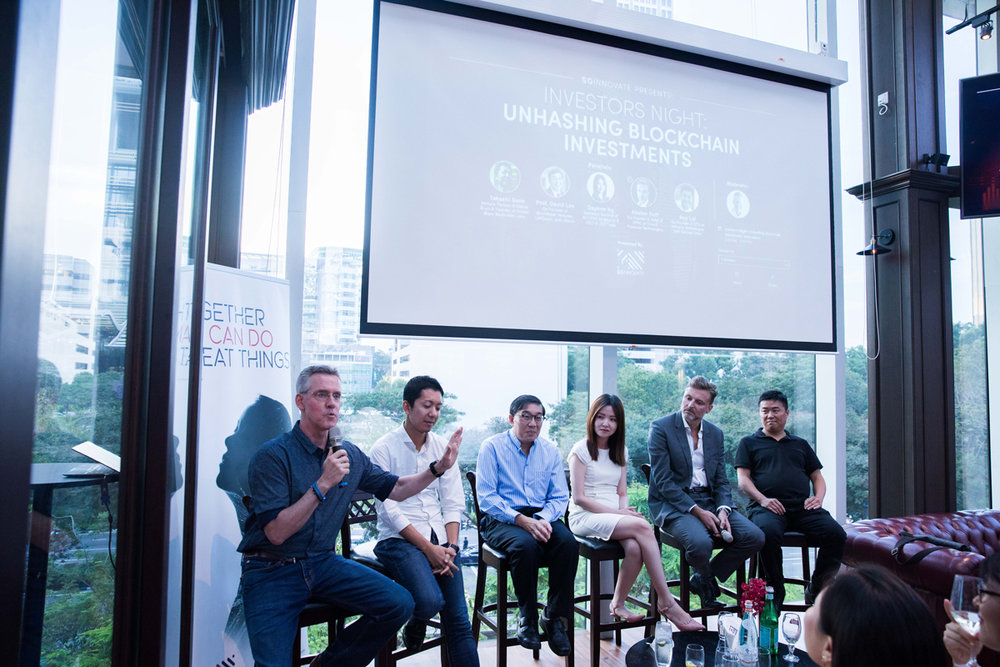 Investor's Night: Unhashing Blockchain Investments     – one of the many community events SGInnovate hosts to build and engage the deep tech community in Singapore.