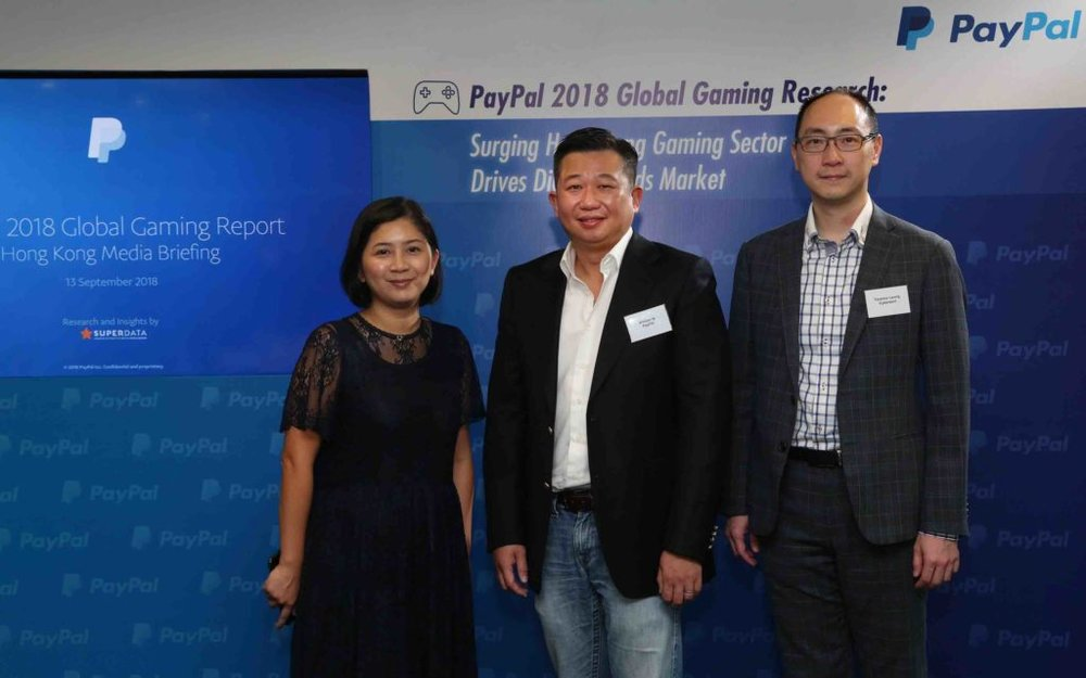 Jacqueline Chiu, General Manager, Marketing Communication & Network Business Department at Sony Interactive Entertainment HK (left), William Ip, Director, PayPal Hong Kong, Korea & Taiwan (center) and Terence Leung, E-sports Lead and Youth Team Lead at Cyberport (right) shared the results of the PayPal 2018 Global Gaming Research, development of gaming in Hong Kong and the opportunities the industry brings.