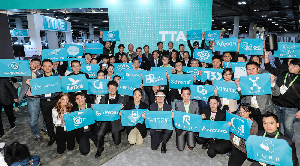 Dr. Yu-Chin Hsu, Deputy Minister of Science and Technology of Taiwan, announced today the opening of Taiwan Tech Arena (TTA) at Eureka Park in CES 2019 with 44 tech startup teams.