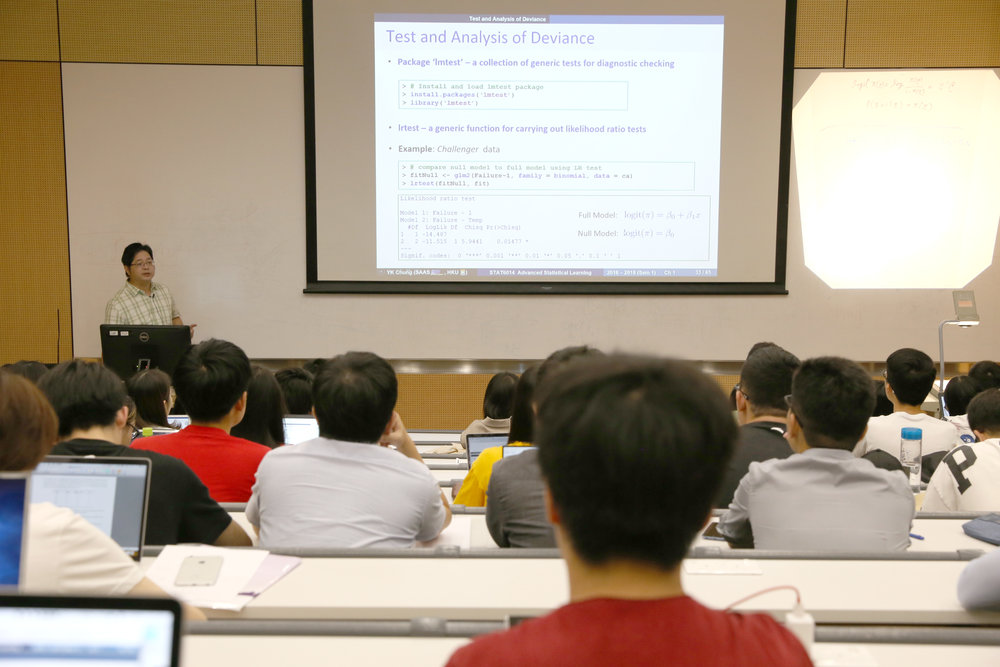 Data science lessons are held on HKU's main campus. Photos courtesy of HKU.