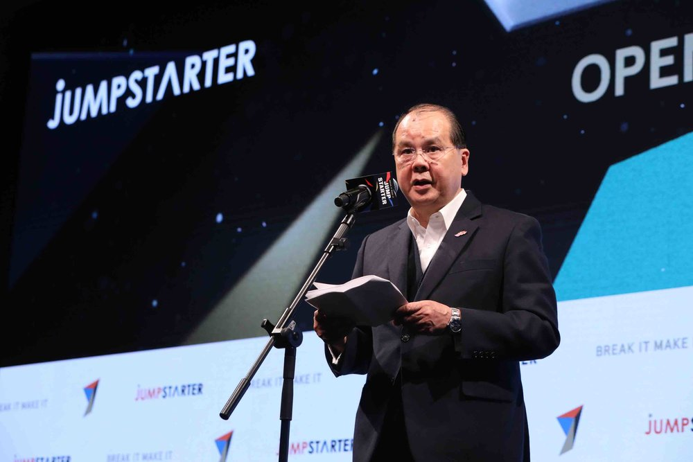 Matthew Cheung Kin-chung, GBM, GBS, JP, Chief Secretary for Administration, Hong Kong SAR, reiterated the government's support for the startup community in Hong Kong at JUMPSTARTER on 24 January 2019.