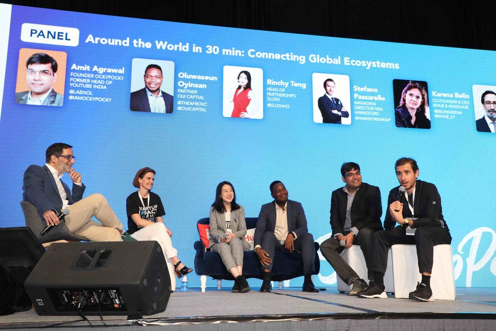 'Around the World in 30 min: Connecting Global Ecosystems' session at the Startup Impact Summit on 25 January 2019.
