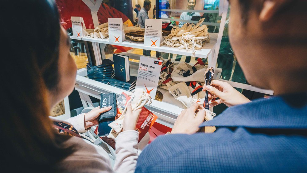 Some handy hacks DBS has created to help employees and customers live more sustainably.