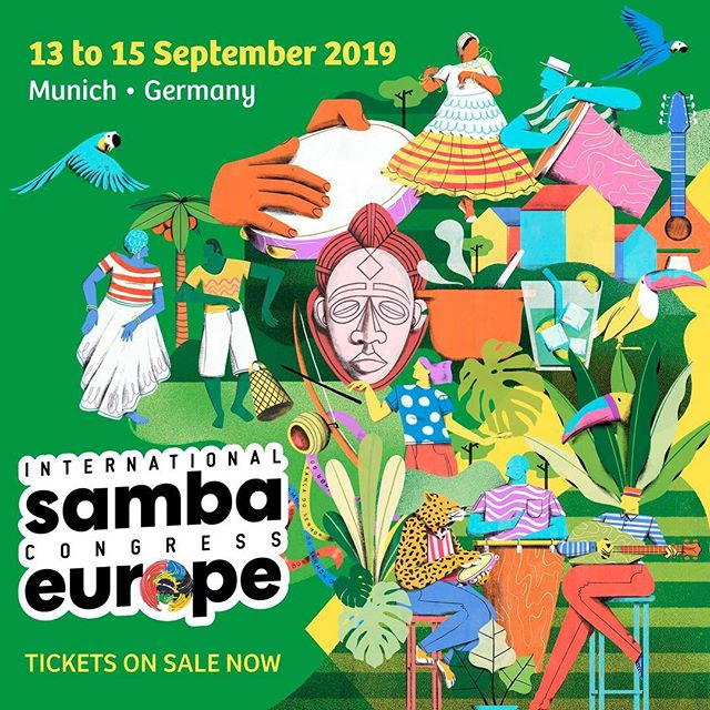 Join us @sambacongresseurope • September 13 to 15, 2019!  Dance & Music Workshops Performances Parties Music Concert Art Exhibition  Tickets now on sale: www.sambacongresseurope.com  @aninhamalandro @patrickcarvalho.oficial @rodrigomarquesrj @pandeirodeouro @karlinhamoreno and much more to be released soon!  #sambacongress #samba #sambafestival #isce2019 #internationalsambacongress