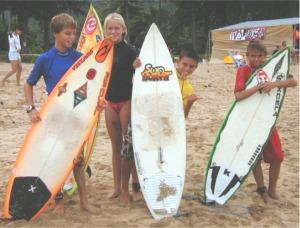 Alex Smith, Bethany Hamilton, Dylan Melamed & Tyler Newton