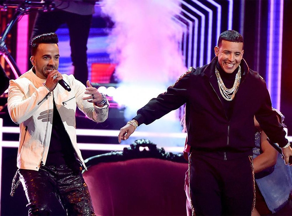 Daddy Yankee and Luis Fonsi perform at this years Grammys