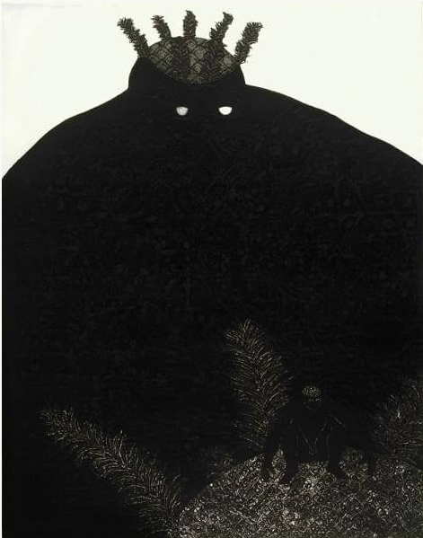 My soul and I love you , Collograph, 1993