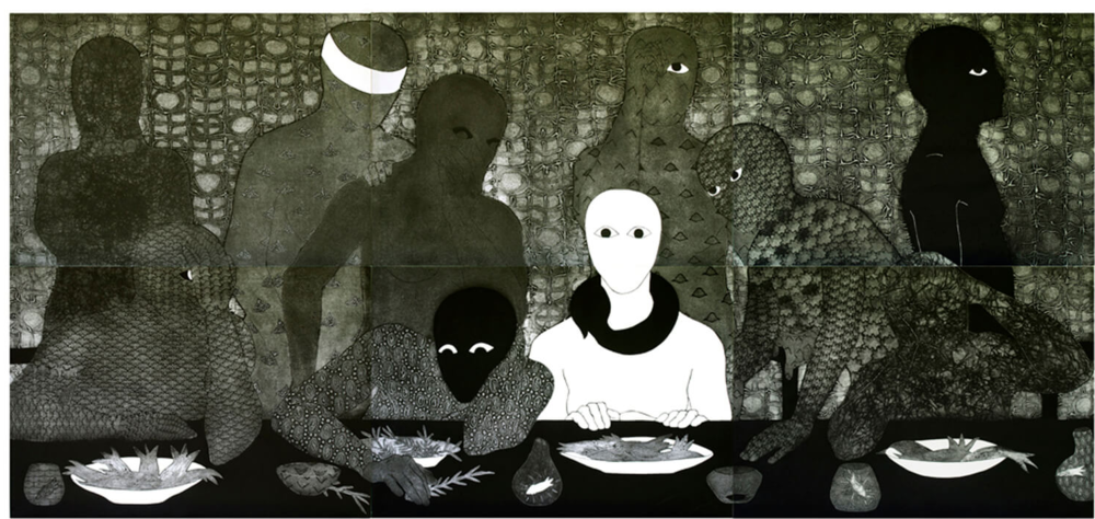 The Supper , Collograph, 1991