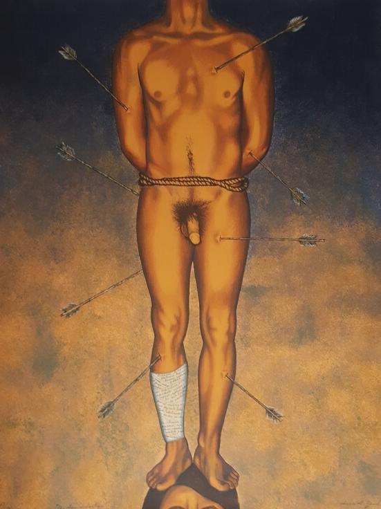 Nahum B. Zenil,  A San Sebastian , oil on canvas, n.d.