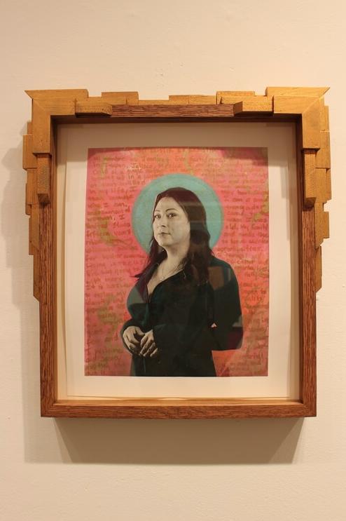 "Gabriel García Román,  Jennicet , photogravure with chine-colle and silkscreen, 15"" x 18"", 2016"