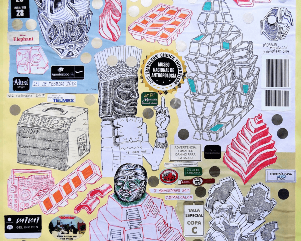 Cisco Jiménez, Monsato, 2011-2016. Collage and drawings