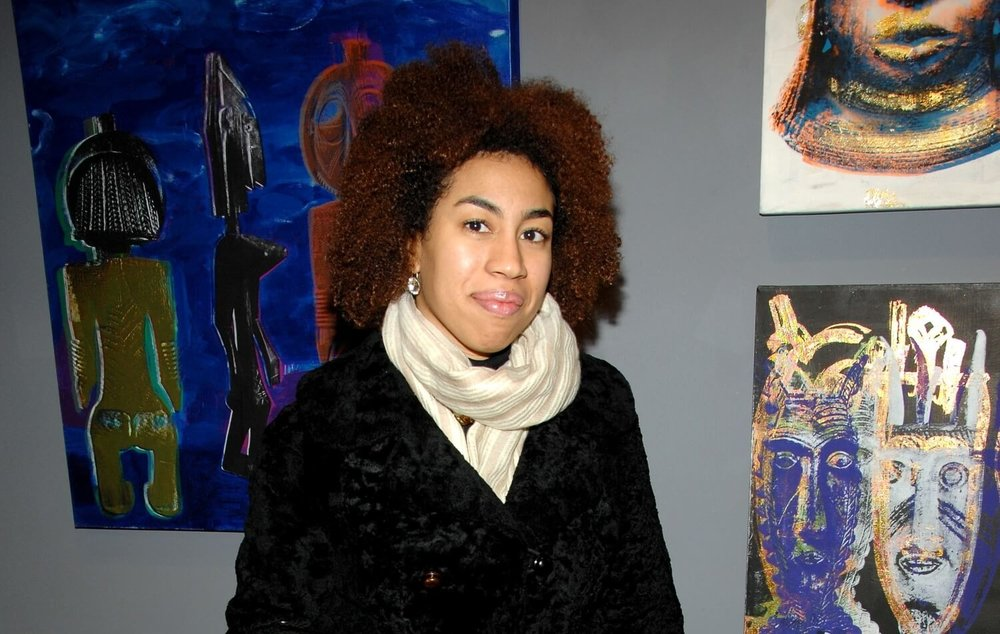 Hernandez at Rush Arts Contemporary African Art Exhibit, Lower East Side, NYC. Photo by Patrick McMullan