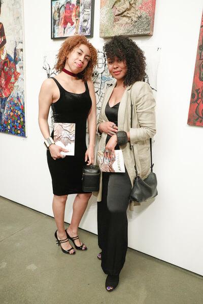 Jasmin Hernandez with Marquita Harris at AMREF Art Ball 2017, Milk Studios NYC. Photo by BFA