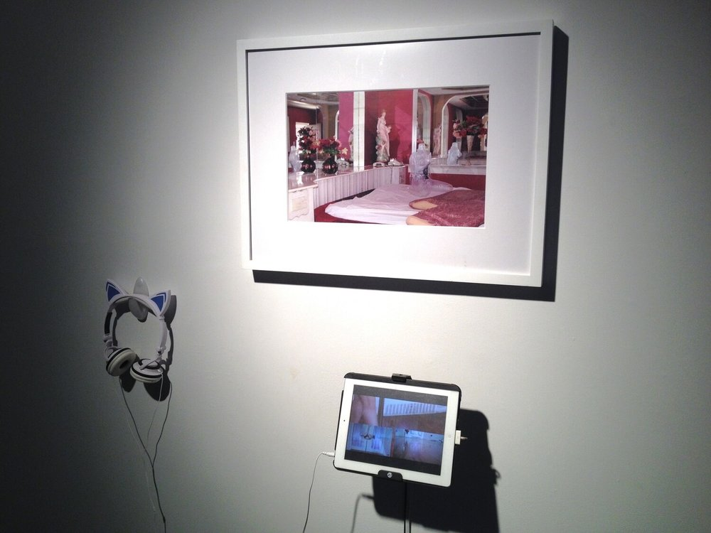 Florencia Escudero,  Luna and Waterfalls and Lace , 2016 and 2017, photography Inkjet print; video